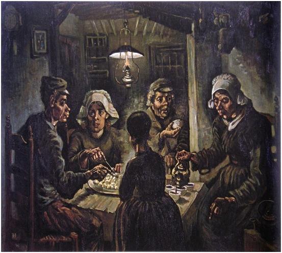 los comedores de patatas van gogh 1885